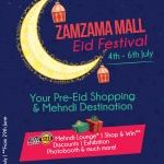 Flier design for Zamzama's Eid Festival