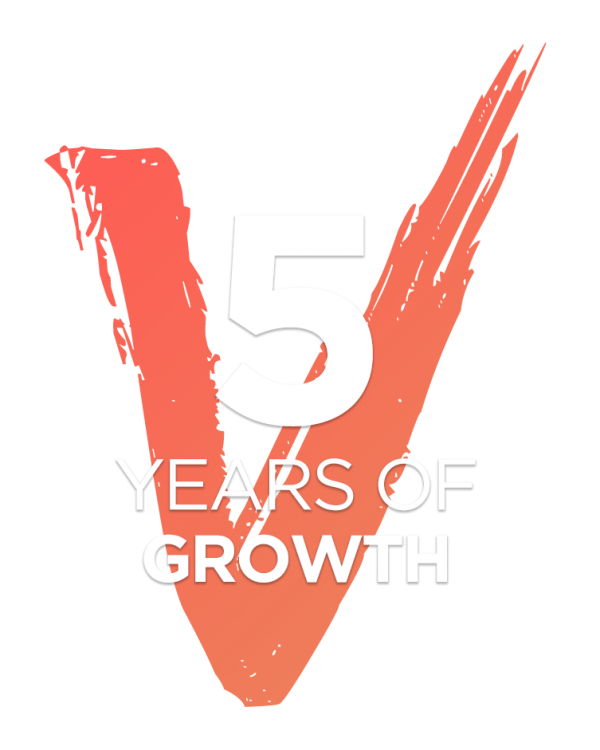 5 years of growth logo2